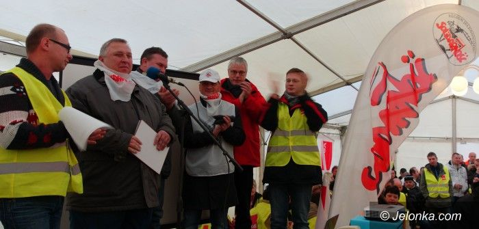 Region: Nasi związkowcy strajkowali w… Lipsku