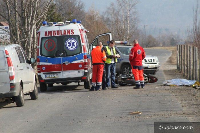 Region: Śmiertelny wypadek motocyklisty w Ścięgnach