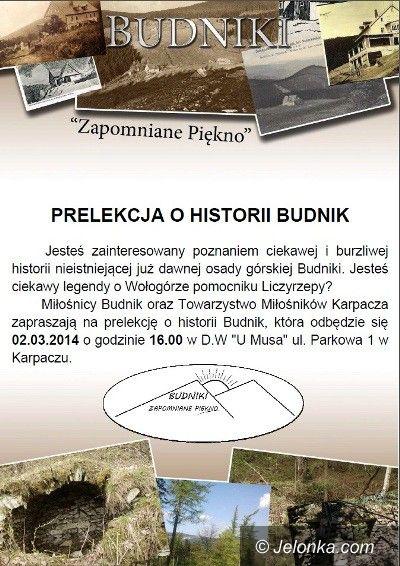 Region: O historii osady Budniki w niedzielę w Karpaczu