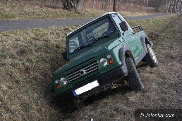 Jelenia Góra: Audi zepchnęło suzuki do rowu