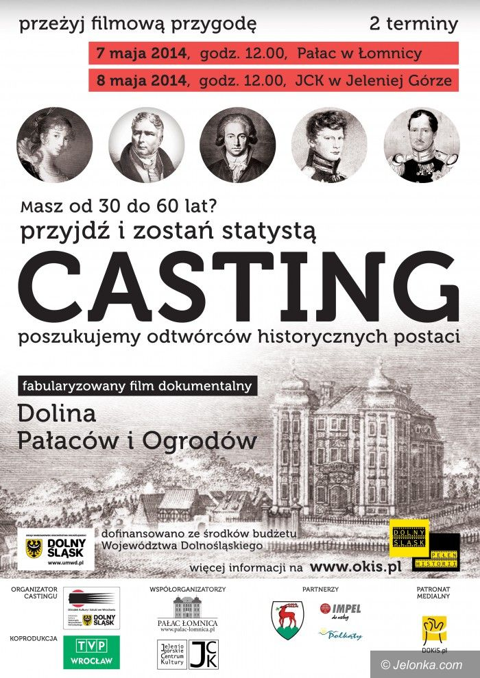 Jelenia Góra/Region: Zagraj w filmie o Dolinie Pałaców i Ogrodów!