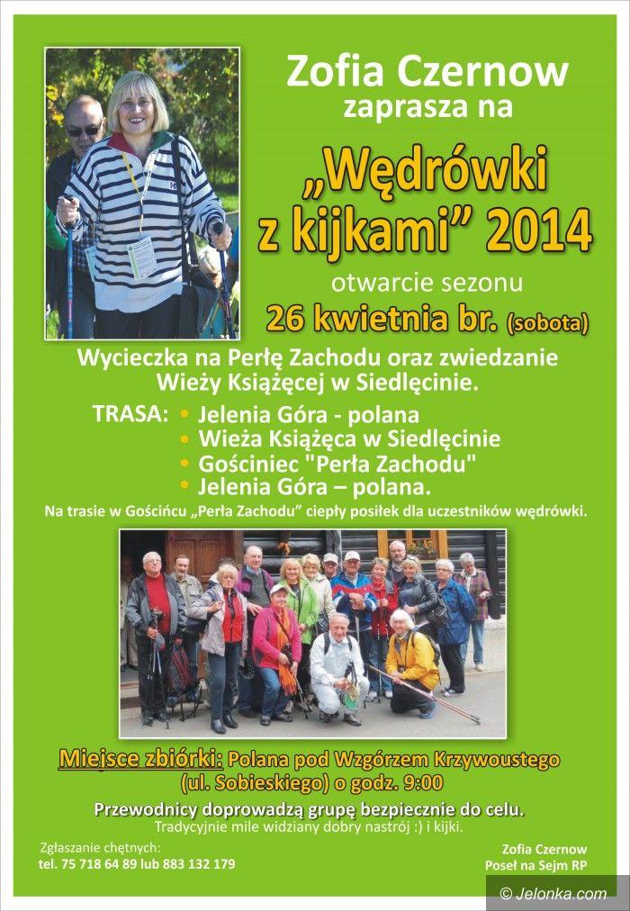 Jelenia Góra: Otwarcie sezonu wędrówek z kijkami już jutro!