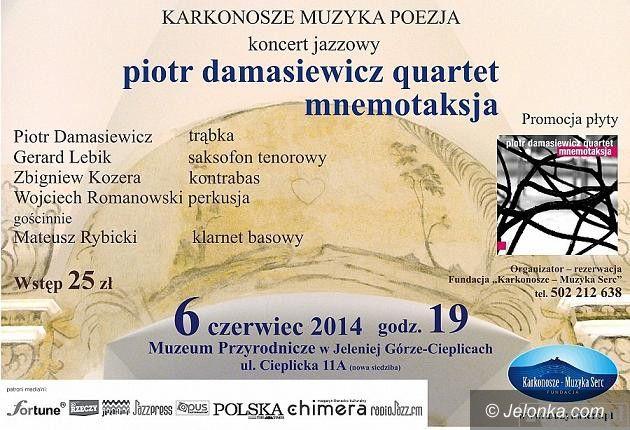 """Jelenia Góra: Spotkanie z jazzem: Piotr Damasiewicz Quartet """"Mnemotaksja"""""""