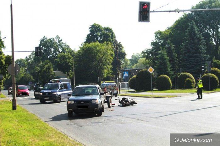 Jelenia Góra: Zderzenie forda z motorowerem