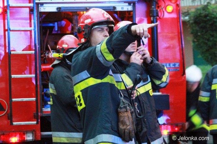 Jelenia Góra: Pożar przy Ogińskiego (aktualizacja)