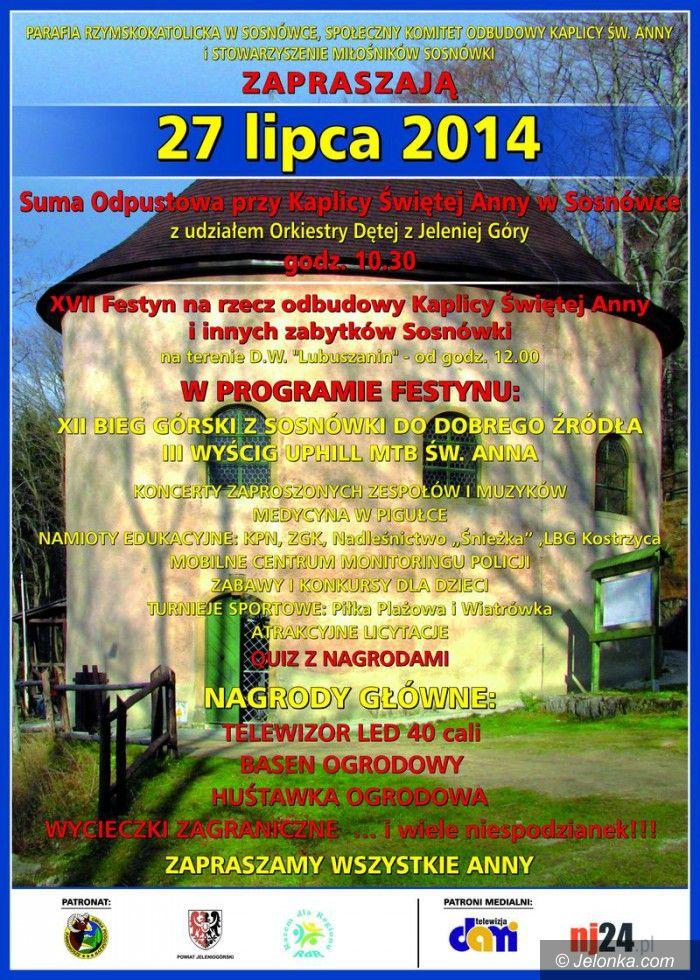 Region: Festyn na rzecz Kaplicy Św. Anny – w Sosnówce