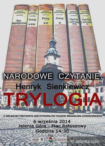 """Jelenia Góra: Narodowe czytanie """"Trylogii"""" Sienkiewicza"""
