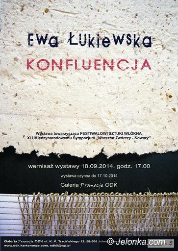Jelenia Góra: Wystawa tkaniny artystycznej Ewy Łukiewskiej w ODK