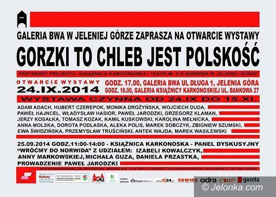 """Jelenia Góra: Wystawa """"Gorzki to chleb jest polskość"""" w BWA"""