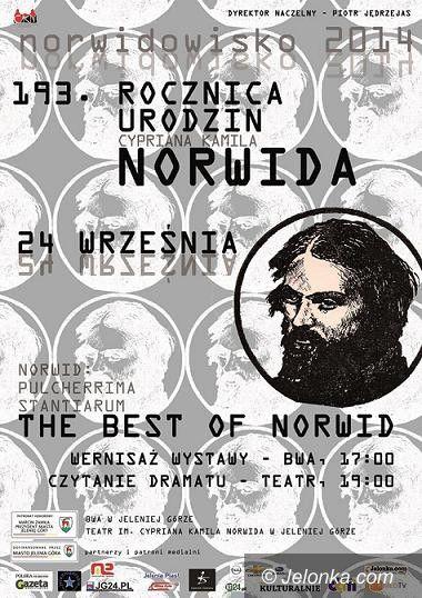 """Jelenia Góra: Jutro Urodziny Norwida, czyli kolejna odsłona """"Norwidowska"""""""