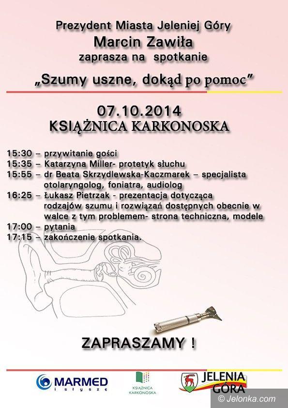 Jelenia Góra: Spotkanie o szumach usznych