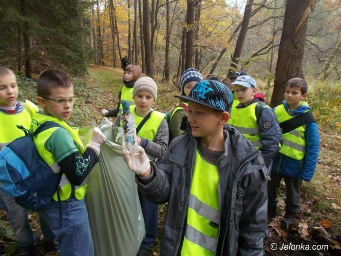 Jelenia Góra: Zebrali karmę dla zwierząt na zimę i posprzątali las