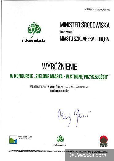 Warszawa: Nagroda dla Szklarskiej Poręby za ekologię