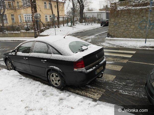"""Jelenia Góra: """"Słone"""" konsekwencje za blokowanie pasów"""