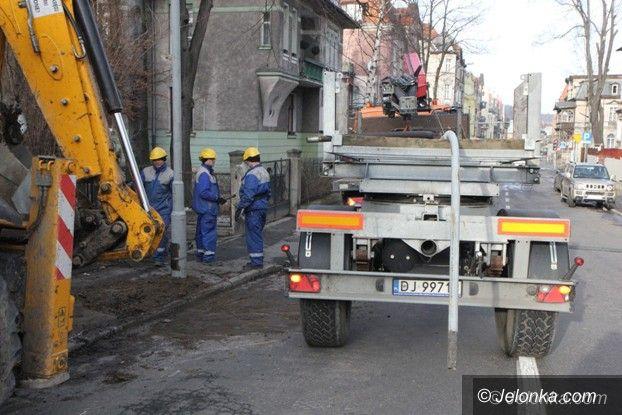 Jelenia Góra: Wymiana latarni przy ul. Matejki