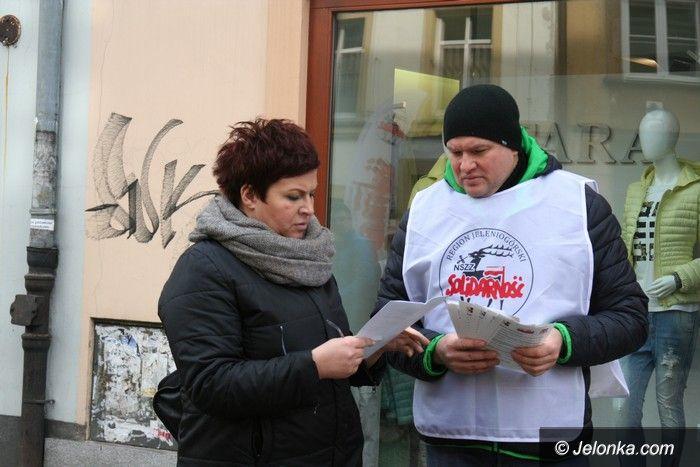 Jelenia Góra: Związkowcy informowali o swoich postulatach