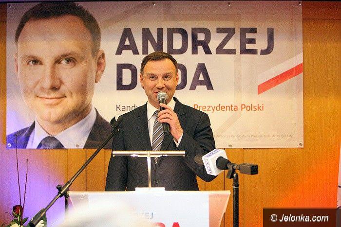 Jelenia Góra: Andrzej Duda, to się uda–skandowali jeleniogórzanie