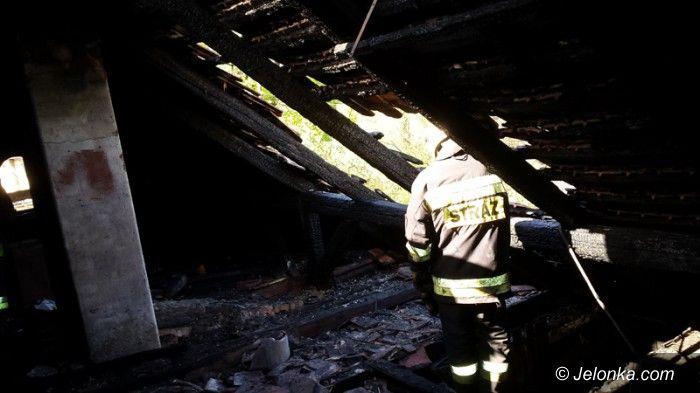 Jelenia Góra: Pożar odciął drogę ucieczki dwóm mężczyznom