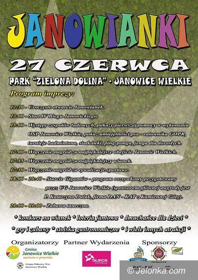 """Janowice Wielkie: Jubileuszowe """"Janowianki 2015"""" już w sobotę"""