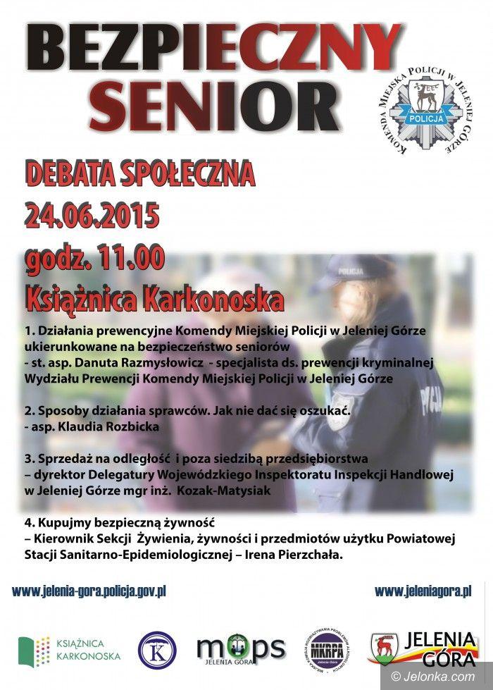 """Jelenia Góra: Debata społeczna """"Bezpieczny senior"""" – dzisiaj"""