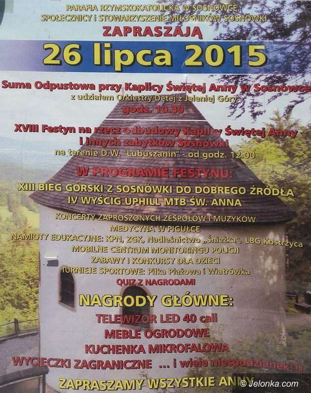 Region: Na rzecz Kaplicy św. Anny w Sosnówce