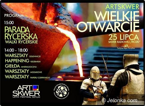 Szklarska Poręba: Parada rycerska na ArtSkwerze w Szklarskiej Porębie
