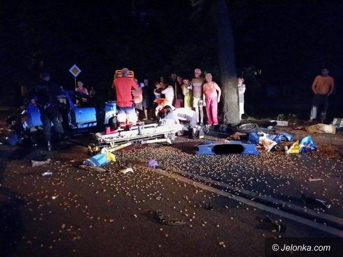 Jelenia Góra: Wypadek na Podgórzyńskiej. Sprawca pijany!