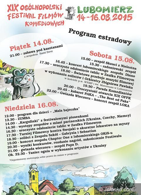 Region: Rusza XIX Festiwal Filmów Komediowych w Lubomierzu