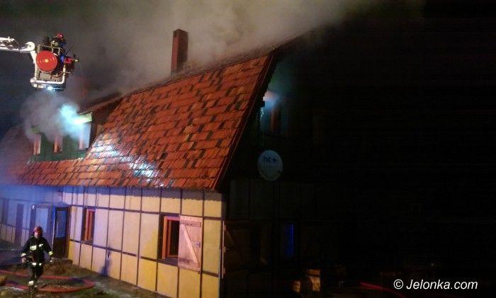 Region: Płonął budynek w Staniszowie