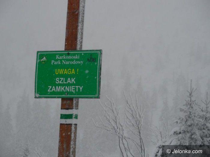 Region: W Karkonoszach zamknięto cztery szlaki