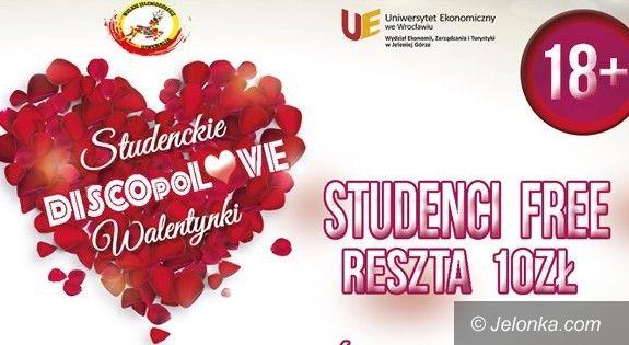 """Jelenia Góra: Studenckie Walentynki w rytmie """"DiscopoLOVE"""""""