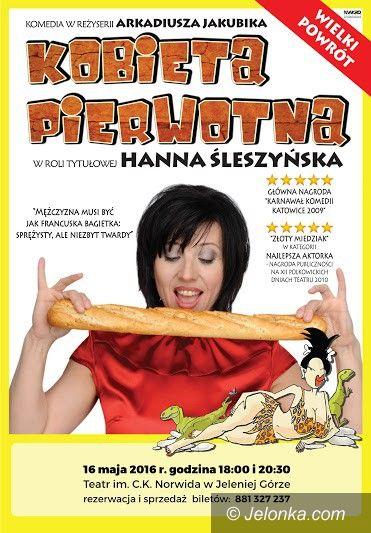 Jelenia Góra: Hanna Śleszyńska jako kobieta jaskiniowa