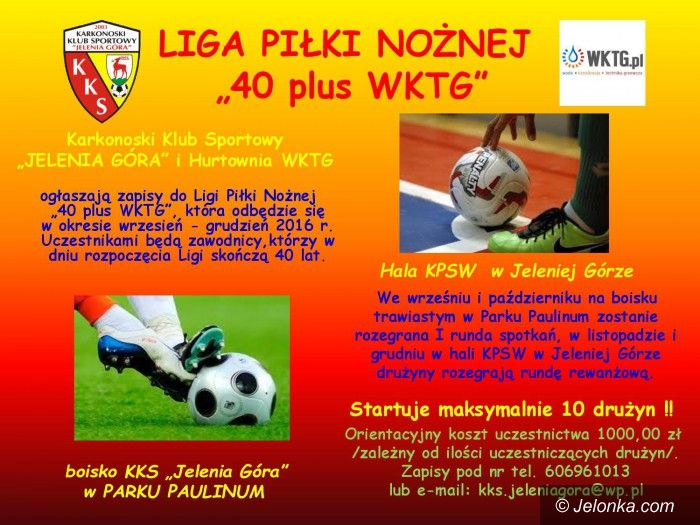 Jelenia Góra: Będzia liga piłkarska dla zawodników +40