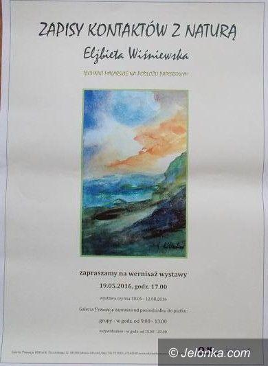 """Jelenia Góra: """"Zapisy kontaktów z naturą"""" Elżbiety Wiśniewskiej w ODK"""
