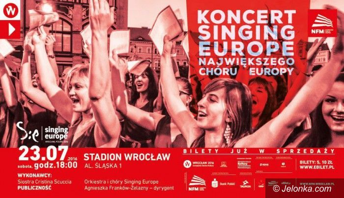 Wrocław: Koncert Singing Europe na Stadionie Wrocław