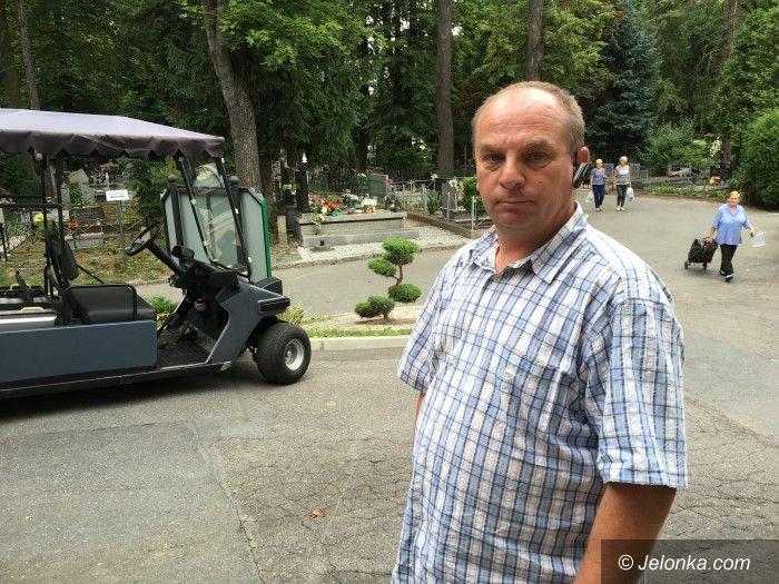 Jelenia Góra: Pracownik MPGK zatrzymał cmentarnego złodzieja