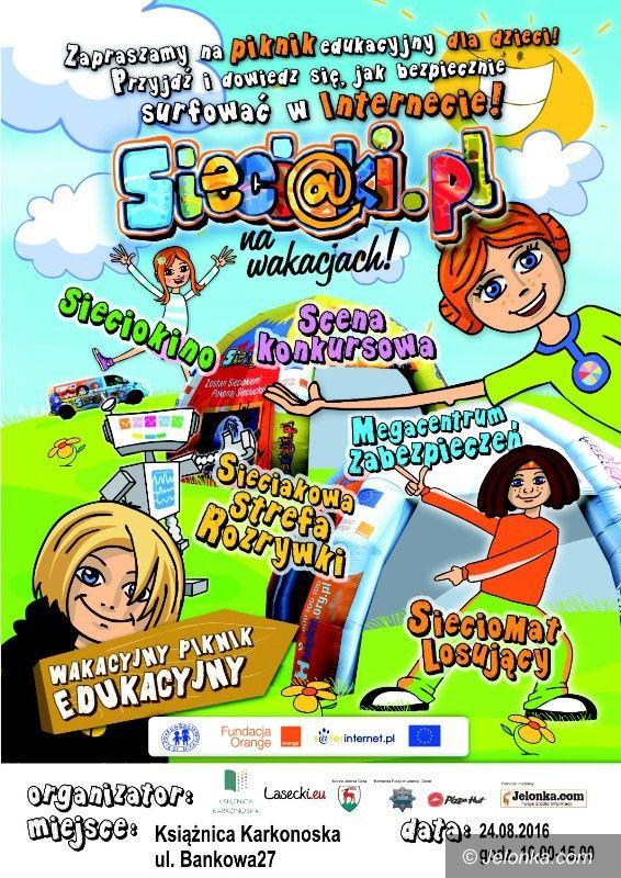Jelenia Góra: Sieciaki.pl na wakacjach w Książnicy Karkonoskiej