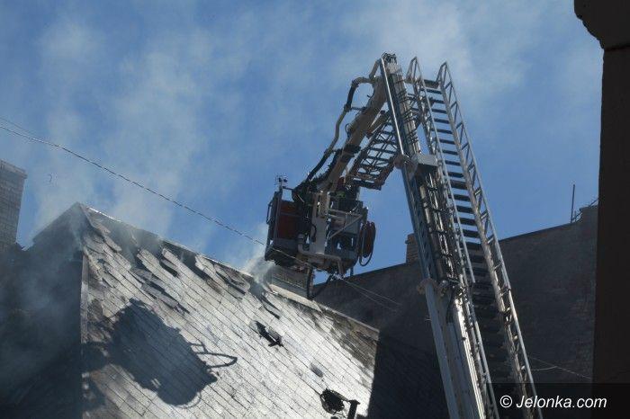 Kowary: Pożar budynku w Kowarach