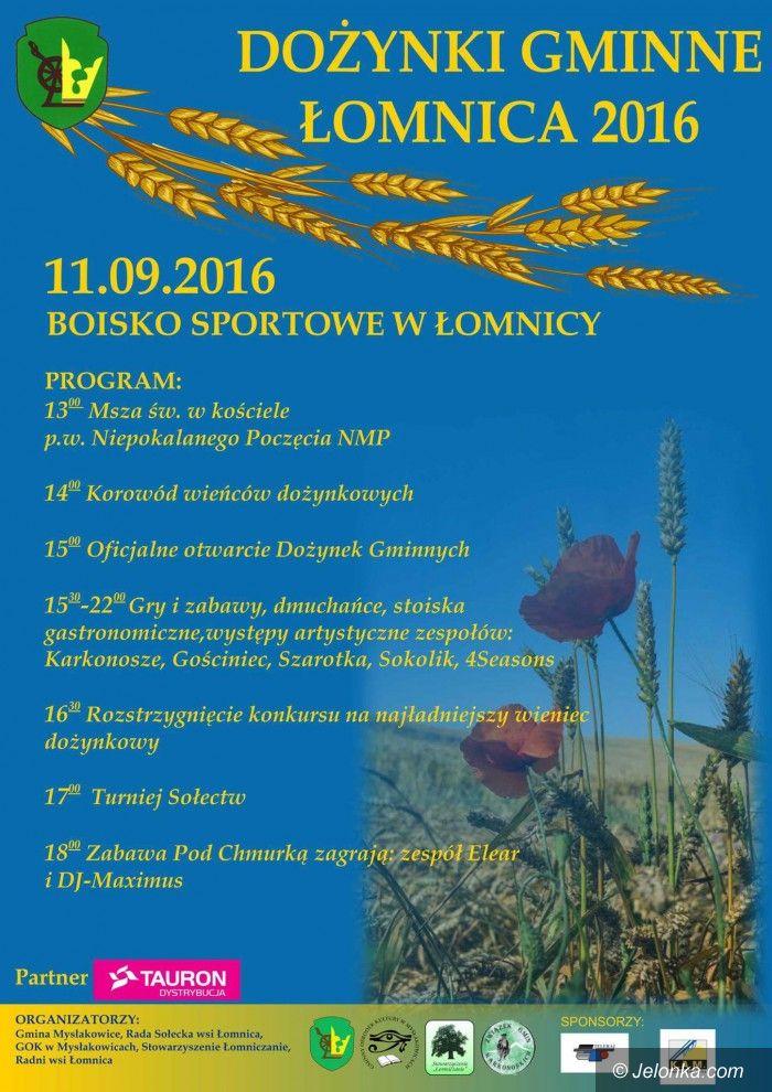 Mysłakowice: W niedzielę mysłakowickie dożynki w Łomnicy