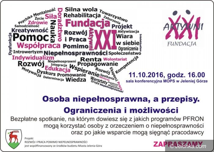 Jelenia Góra: Spotkanie dla niepełnosprawnych oraz pracodawców