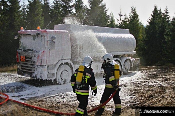 Region: Pożar cysterny w Jakuszycach – ćwiczenia