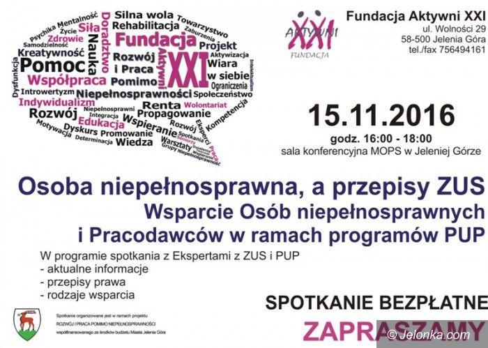 Jelenia Góra: Spotkanie dla niepełnosprawnych i pracodawców – już jutro!