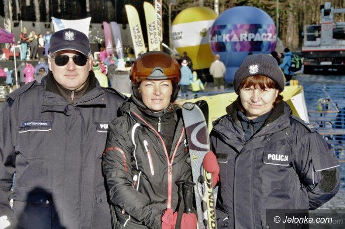 Region: Patrole policji na stokach narciarskich