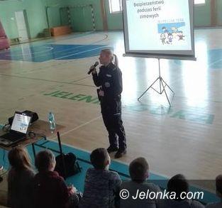 Jelenia Góra: O bezpiecznych feriach w Szkole Podstawowej nr 10