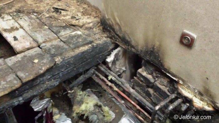 Jelenia Góra: Pożar mieszkania przy ulicy Czarnoleskiej