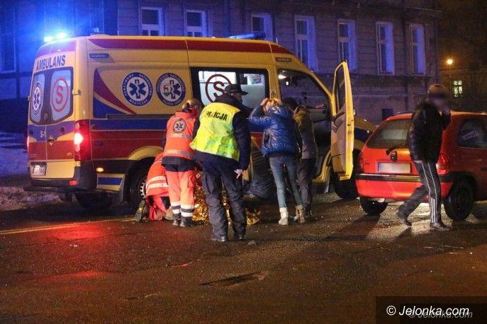 Jelenia Góra: Potrącenie pieszej na Wojska Polskiego
