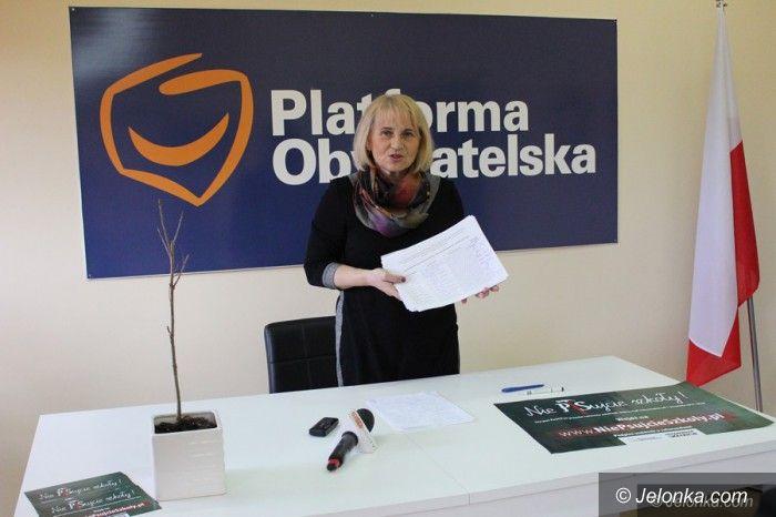 Jelenia Góra: Tysiące podpisów za referendum ws. oświaty