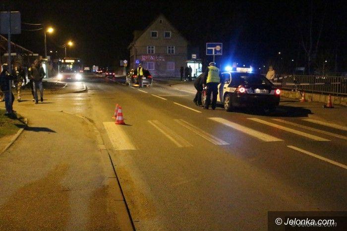 Jelenia Góra: Potrącenie pieszej w Cieplicach. Kobieta zmarła (aktualizacja)