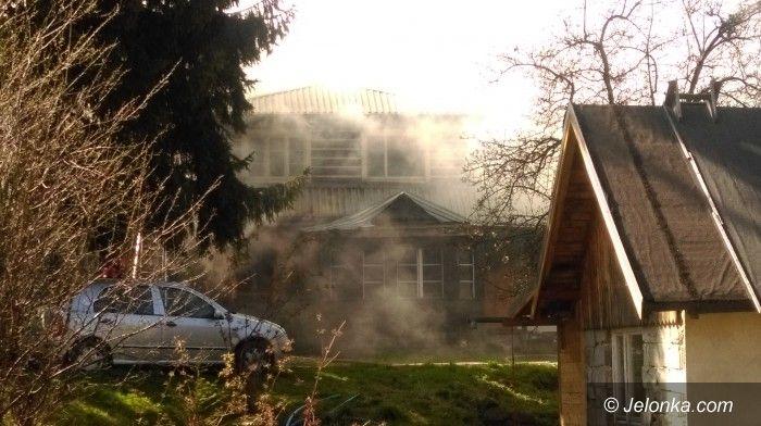 Karpacz: Pożar budynku mieszkalnego w Karpaczu