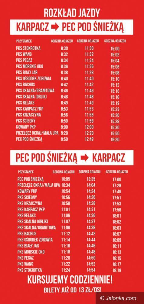 Region: Bus Karpacz – Pec pod Śnieżką od jutra